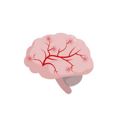 Brain icon isolated on white background medical vector