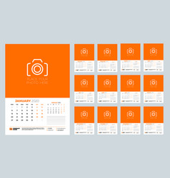 Calendar for 2020 year wall calendar planner vector