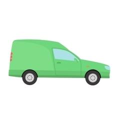 Car vechicle mini van transport vector image