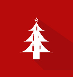 christmas tree icon on white background vector image
