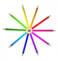 colored pencils vector image
