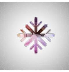 Creative concept icon of snowflake for Web vector