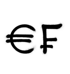 currency icons set black spray graffiti symbol vector image
