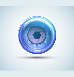 cyber eye isolated with shadow vector image