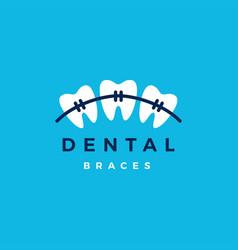 dental braces logo icon vector image
