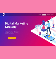 dm strategy 3d template vector image