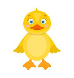 Duckling single icon in cartoon styleduckling vector