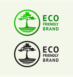 ecology friendly logo vector image