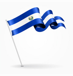 El salvador pin wavy flag vector