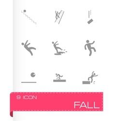 Fall icon set vector