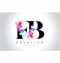 Fb vibrant creative leter logo design with vector