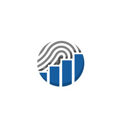 fingerprint financial vector image