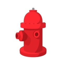 Fire hydrant cartoon icon vector image
