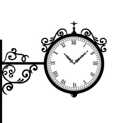 Forging retro clock with vignette arrows vector