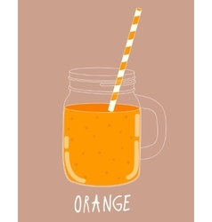 Fresh Orange Smoothie Healthy Food vector