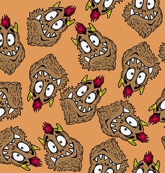 funny looking monster pattern vector image