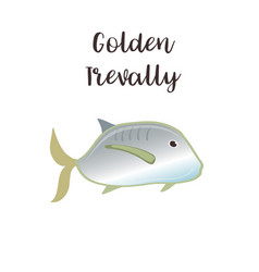 golden trevally realistic vector image
