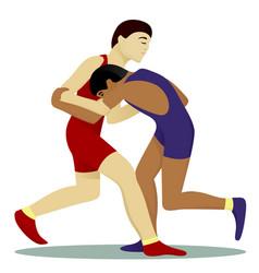 Greko-roman wrestling vector