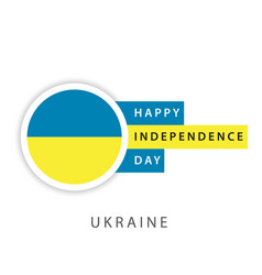 Happy ukraine independence day template design vector