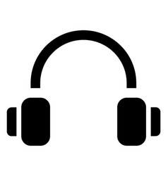 Headphone set vector