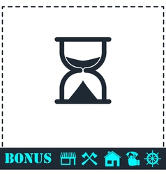 Hourglass icon flat vector