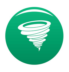 hurricane icon green vector image