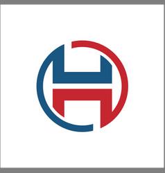 initials h circle abstract logo vector image