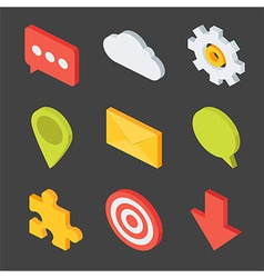 Isometric Business Icons Set vector image