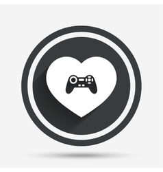Joystick sign icon Like Video game symbol vector
