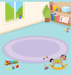 Kindergarten room playroom interior vector