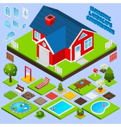 Landscape design isometric vector