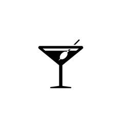 martini flat icon vector image