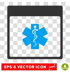 Medical Life Star Calendar Page Eps Icon vector image
