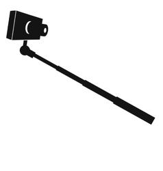 Monopod selfie icon vector