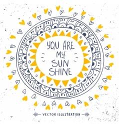 My sunshine vector