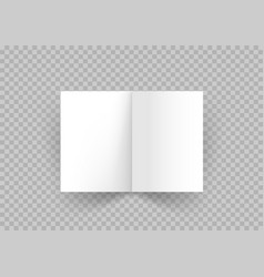 open white book with shadow vector image