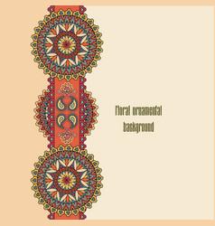 oriental floral seamless pattern geometric vector image