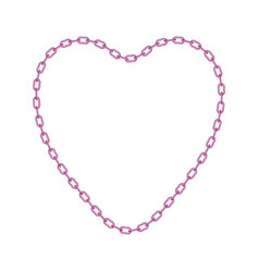 pink chain in shape of heart vector image