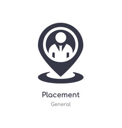 Placement icon isolated placement icon from vector