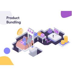 product bundling modern flat design vector image