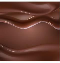 Realistic chocolate liquid wave background vector