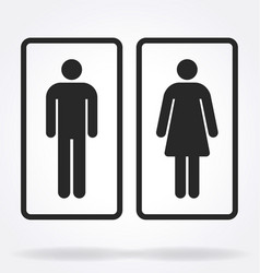 Restroom toilet symbols outlines vector