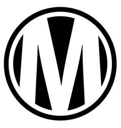 round m logo vector image