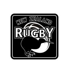 Rugby ball kiwi new zealand vector