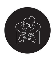 scoliosis massage black concept icon vector image
