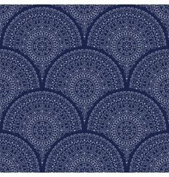 Seamless pattern with mandalas vector