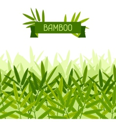 Seamless tropical pattern with stylized bamboo vector