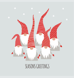 season greetings card vector image