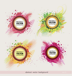 Set abstract label background vector
