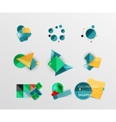 set of abstract geometric shape icons vector image